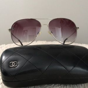 💯Authentic CHANEL 4189 Aviator Tinted Sunglasses